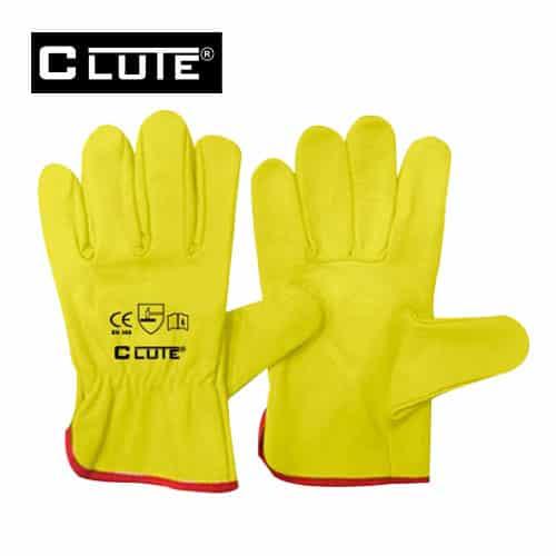 guante badana amarillo clute